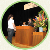 JULY Speech competition Students practice for long periods to effectively demonstrate their Japanese skills in front of everyone. With tears and laughter, this is a popular event every year.